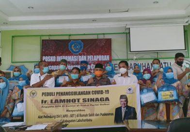 Lamhot Sinaga: Seluruh RSUD dan Puskesmas di Bonapasogit Telah Memiliki APD
