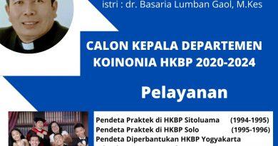 """Pdt. Dr. Pahala Jannen Simanjuntak """"Melakukan Perubahan Besar Agar HKBP Menjadi Berkat Bagi Dunia"""""""