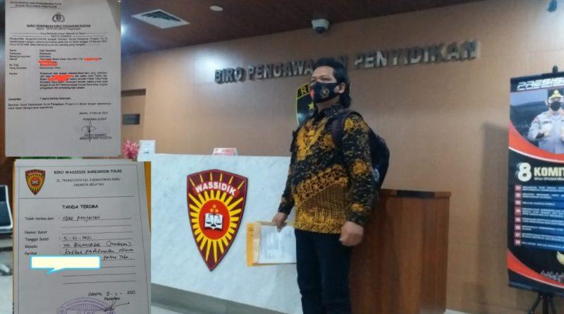 """Lambat Tangani Kasus korupsi Dana Desa Tornagodang Bripda """"BS"""" Dilaporkan Ke Propam Mabes Polri"""